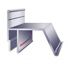 Профиль алюминиевый контурный 2м